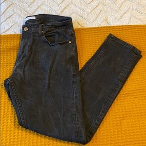 ZARA Man Black Tapered Denim